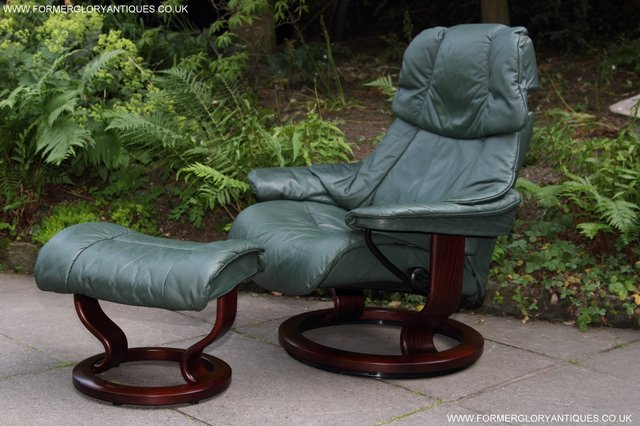 EKORNES STRESSLESS LEATHER RECLINER SWIVEL ARMCHAIR STOOL & stressless recliner - Second Hand Household Furniture Buy and ... islam-shia.org