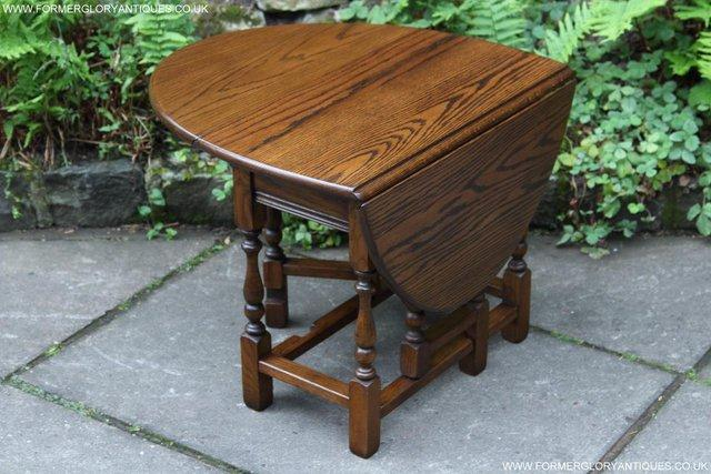 Old Charm Light Oak Drop Leaf Gate Leg Coffee Lamp Table For Sale In Uttoxeter Staffs Preloved