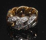 Pomellato gourmette collection 18ct gold diamond ring