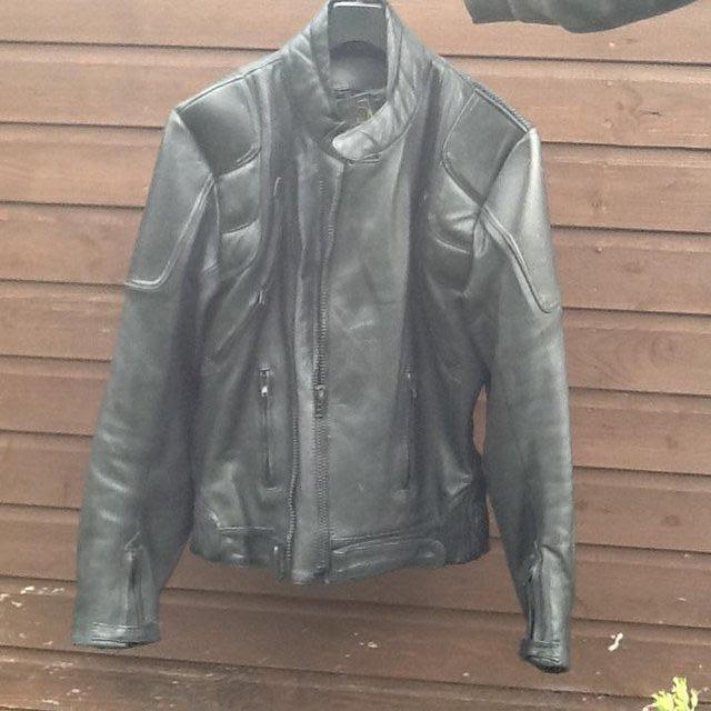 Bikers black Leather Jacket. J & S Leathers for sale  Bishops Castle