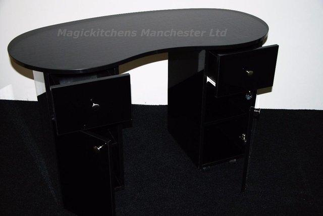 Manicure nail table for sale in uk view 154 bargains for Black nail desk