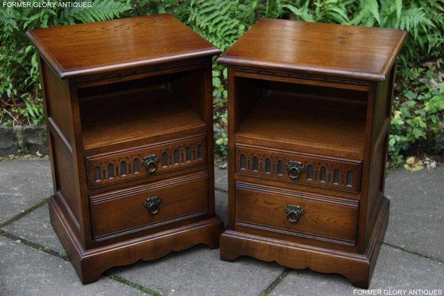 OLD CHARM LIGHT OAK BEDSIDE CABINETS CUPBOARDS LAMP TABLES Part 61