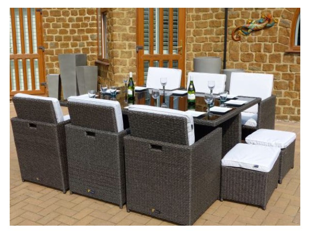 Outdoor table chairs for sale in uk view 92 bargains for 10 seater table for sale