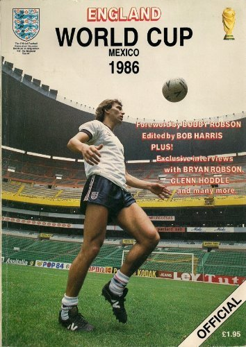 World Cup England Footbal Programme Mexico 1986