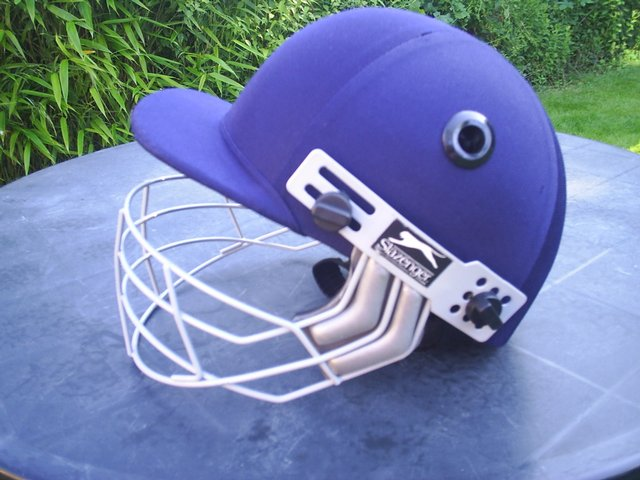 Second hand child's cricket helmet from Preloved