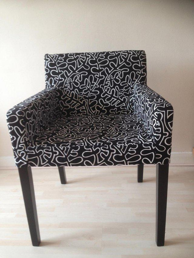 Free Ikea monochrome chair from Preloved