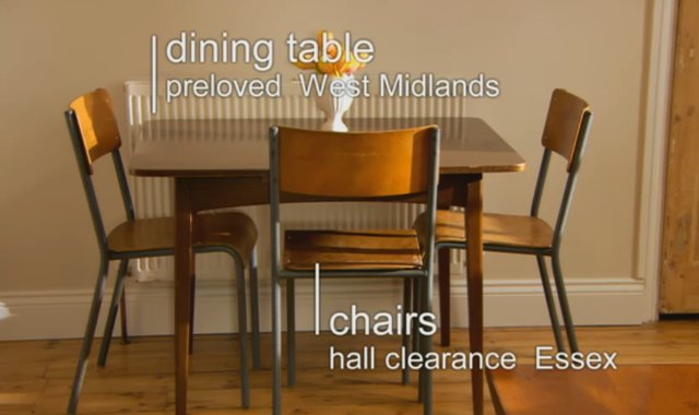 Dining table from Preloved. Kirstie Allsopp   Fill Your House for Free