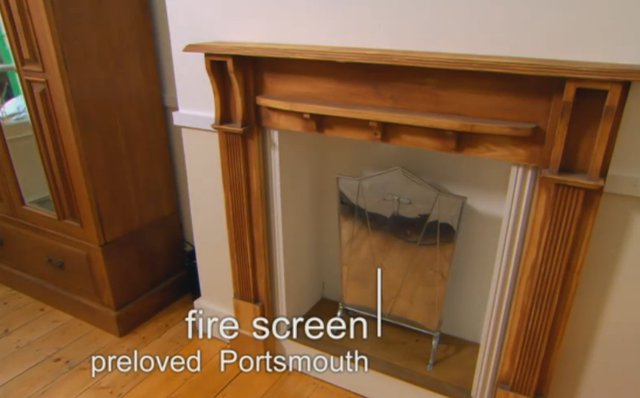 Free fire screen from Preloved. Kirstie Allsopp   Fill Your House for Free