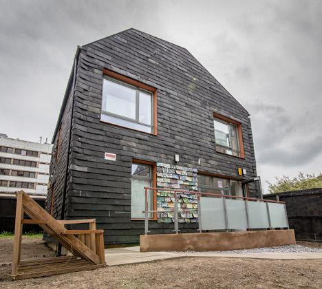 the Waste House building in Brighton