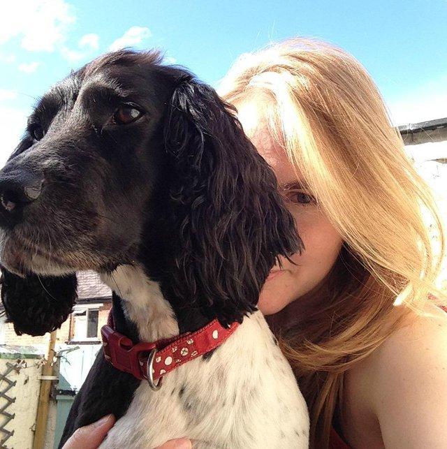 Justine and her dog Bramble