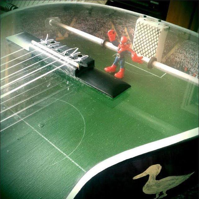 spiderman football table figure