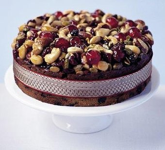 Fruit And Nut Topping For Christmas Cake