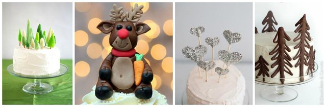 chirstmas cake topper ideas