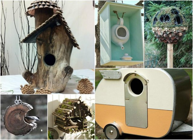 Diy bird house inspiration preloved uk for Different types of birdhouses