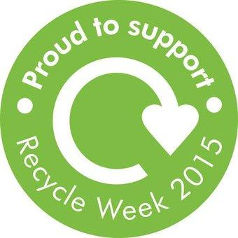 proud to support recycle week logo
