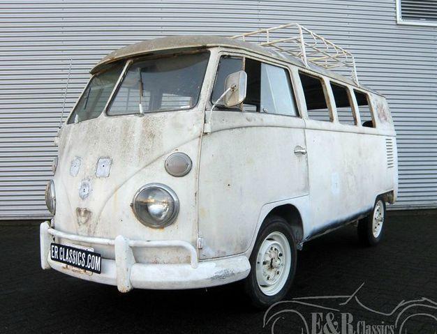 white VW 1967 campervan