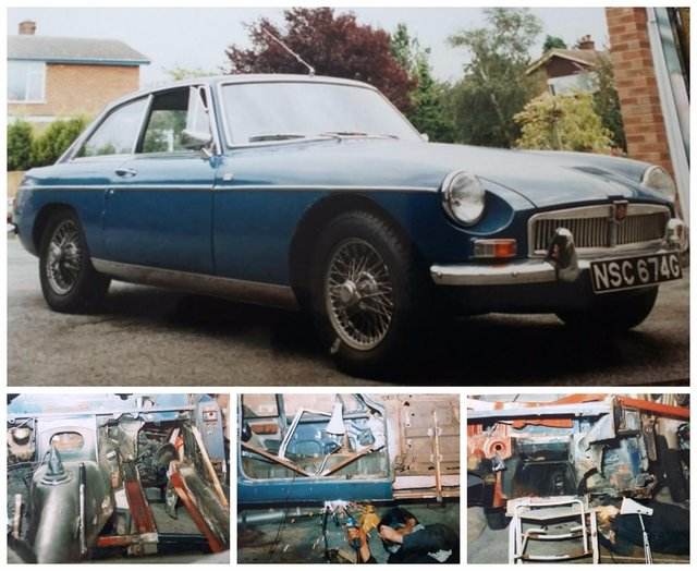 The 1968 MGB that Andy bought in 1980