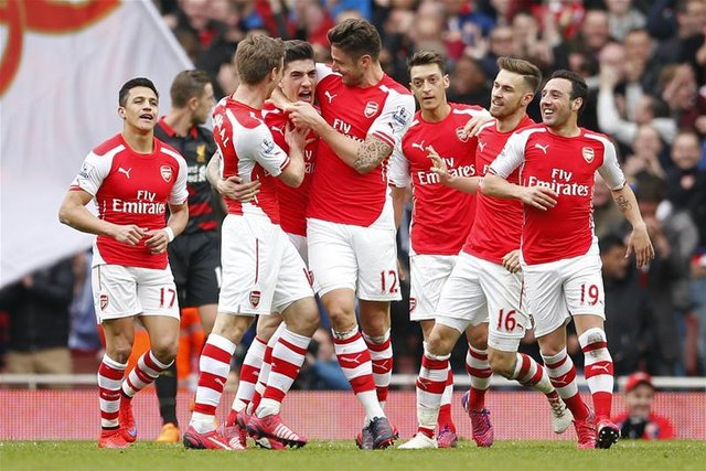 arsenal being happy