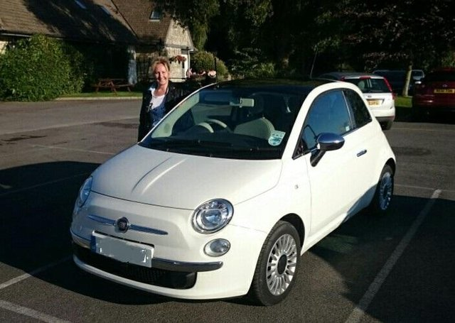 Fiat 500 and owner