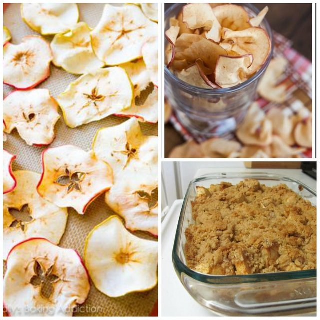 apple chips and apple crumble