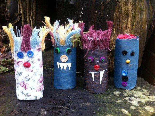 Cardboard Tube Monster Shakers