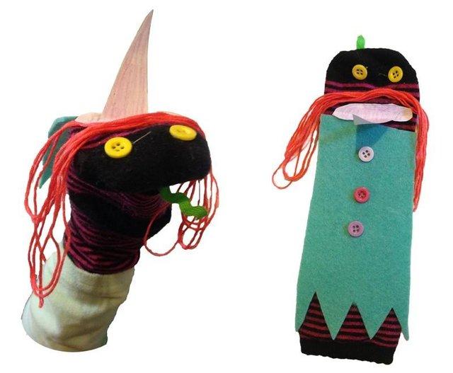 Halloween Sock Puppets