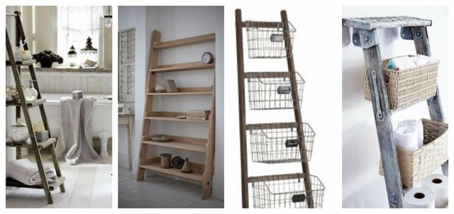 Ladders as storage solutions!