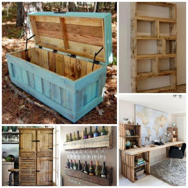 Wooden pallets as storage!