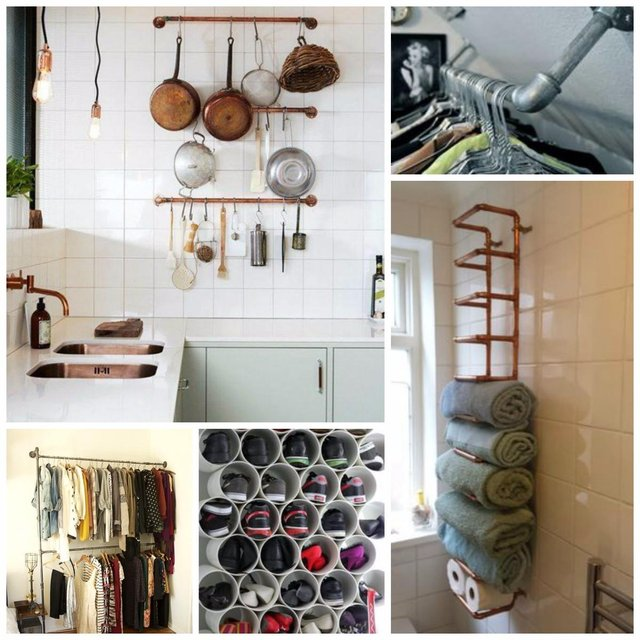 Pipes as storage solutions!