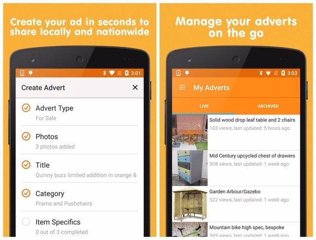 seller android app screenshots