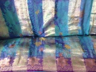 Vintage upcycled sari