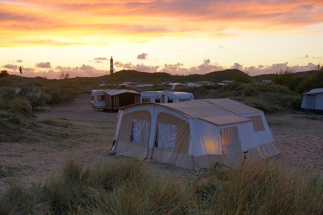 Caravans on campsite