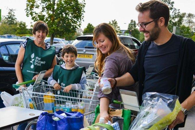 Volunteers at the Foodbank