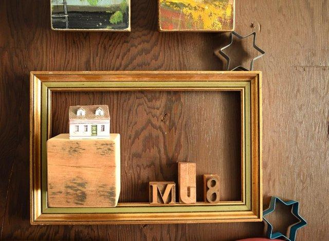 Frame with initials