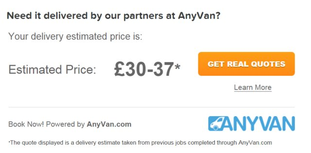 AnyVan Quote Box