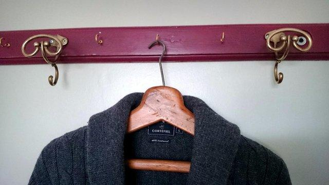 clothes rail red