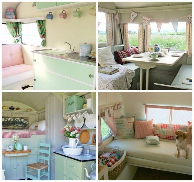 From Loud Brightly Coloured Retro Styling To Simple Pastel Chic The Sky Is Limit When It Comes And Vintage Caravan Interiors
