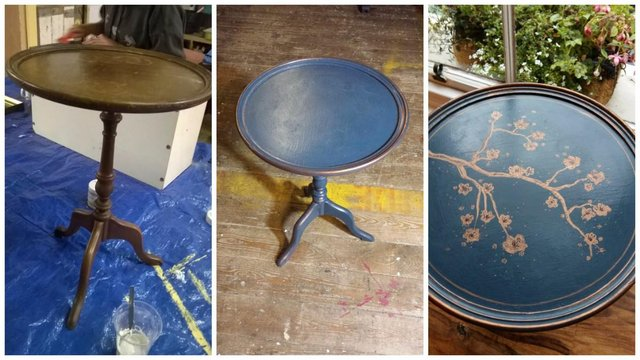 blue table transformed
