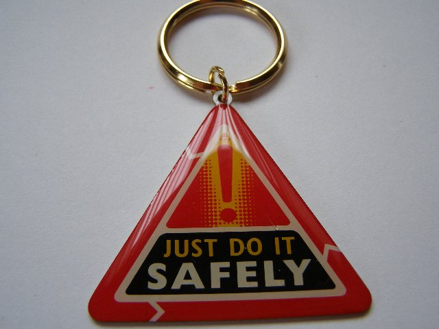 Just do it safely - Keyring (Incl. P&P), used for sale  Scunthorpe