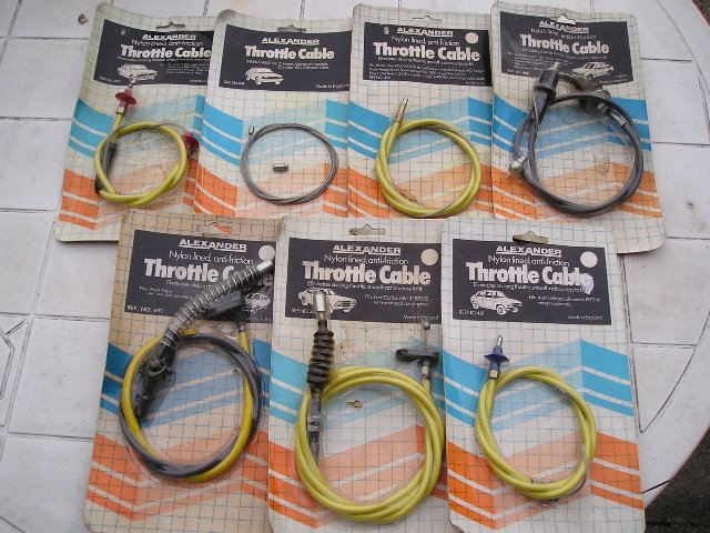 Preview of the first image of SELECTION OF THROTTLE CABLES.