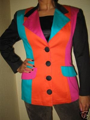 Preview of the first image of Fabulous Multi Coloured Panelled Jacket by XLR8 UK 10.