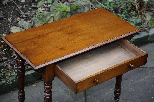 Image 2 of VICTORIAN MAHOGANY HALL SIDE END OCCASIONAL TABLE DESK