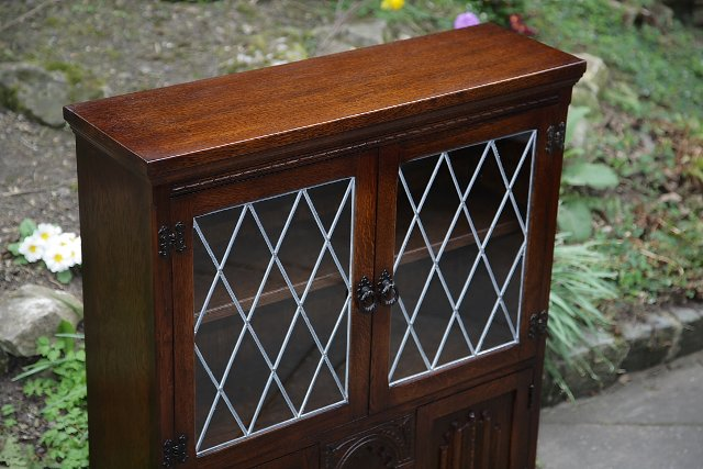 Image 2 of OLDE COURT CHARM BOOKCASE CUPBOARD DISPLAY CD DVD CABINET.