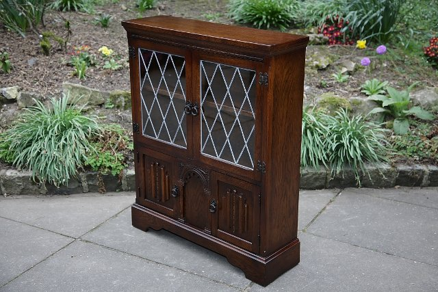 Image 7 of OLDE COURT CHARM BOOKCASE CUPBOARD DISPLAY CD DVD CABINET.