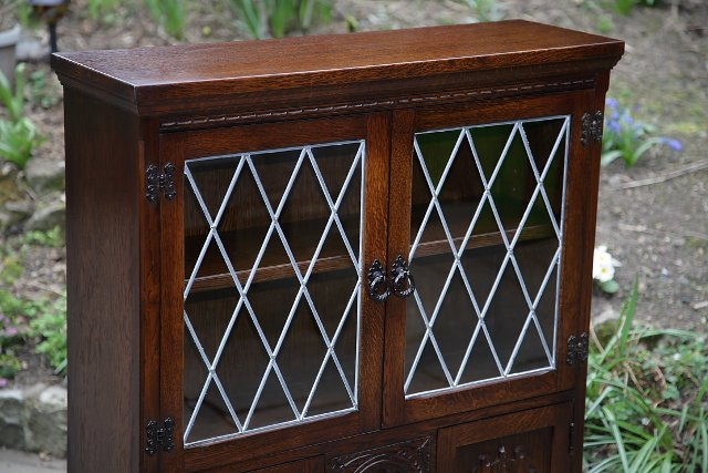 Image 18 of OLDE COURT CHARM BOOKCASE CUPBOARD DISPLAY CD DVD CABINET.