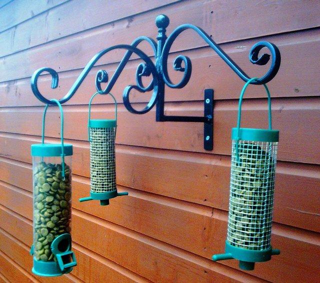 New Wild Bird Feeder Station Heavy Duty Wrought Iron Hanger For Sale In Pontefract