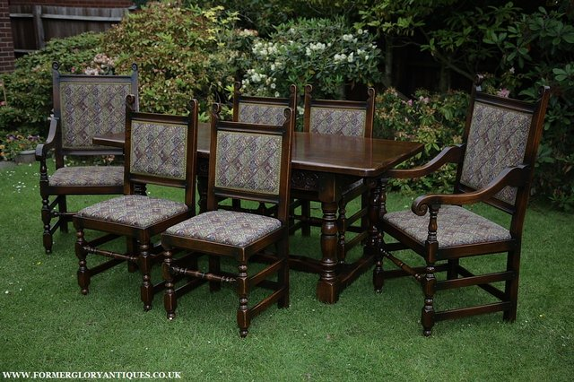 Image 34 of TITCHMARSH & GOODWIN STYLE OAK DINING TABLE & SIX CHAIRS