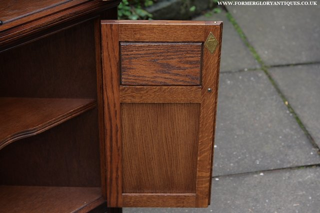 Image 7 of OLD CHARM CORNER DISPLAY CABINET CUPBOARD BOOKCASE SHELVES