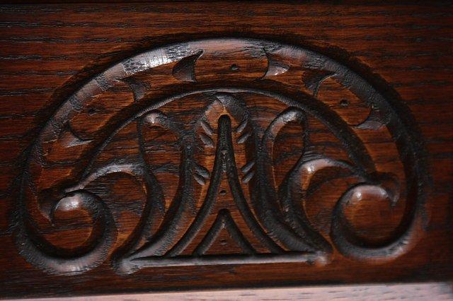 Image 15 of OLD CHARM CORNER DISPLAY CABINET CUPBOARD BOOKCASE SHELVES