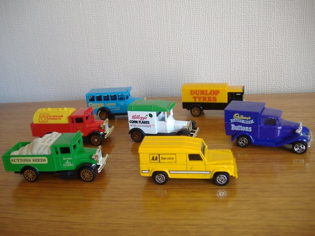 Preview of the first image of 7 VINTAGE CORGI DIECAST DELIVERY VEHICLES / COMMERCIAL.